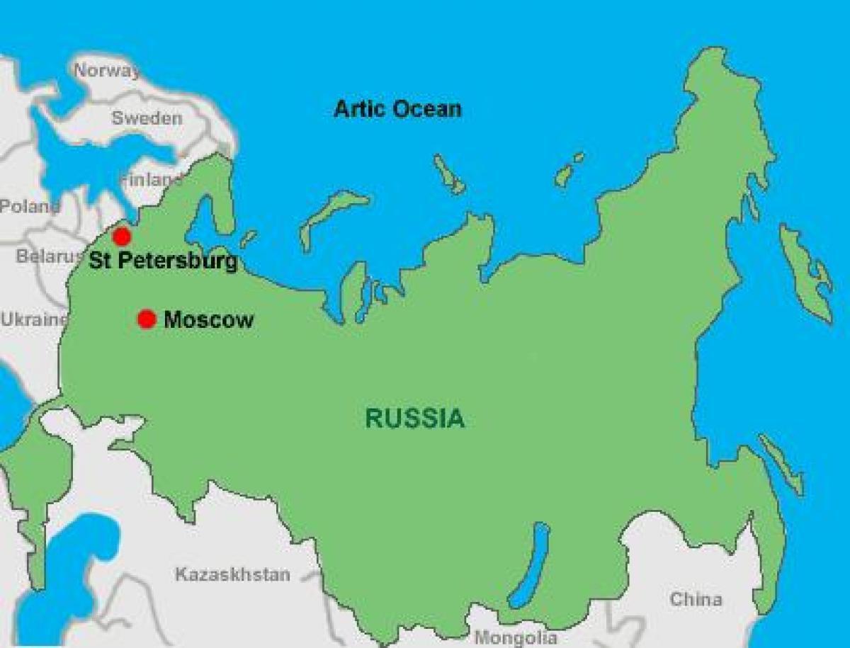 Karte Anzeigen.Moskau St Petersburg Anzeigen Moskau Und St Petersburg