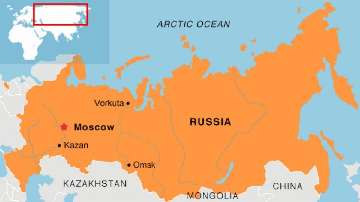 Moskau Auf Der Karte Moskau Die Lage Auf Der Karte Russland