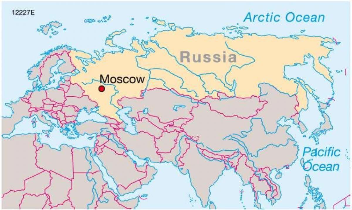 Moskau Russland Auf Der Karte Moskau Auf Der Karte Von Russland