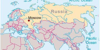 Moskau Map Karten Moskau Russland